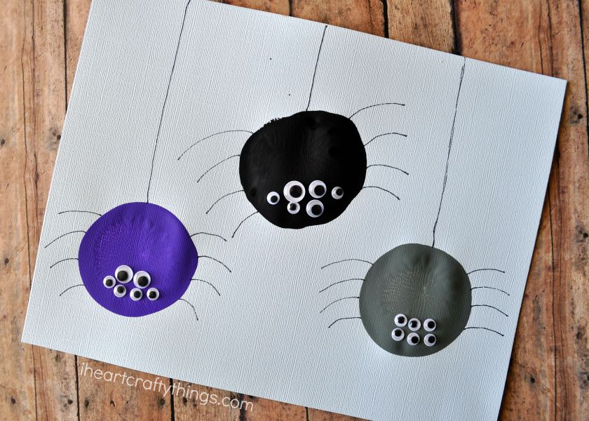Balloon Print Spider Craft For Kids I Heart Crafty Things