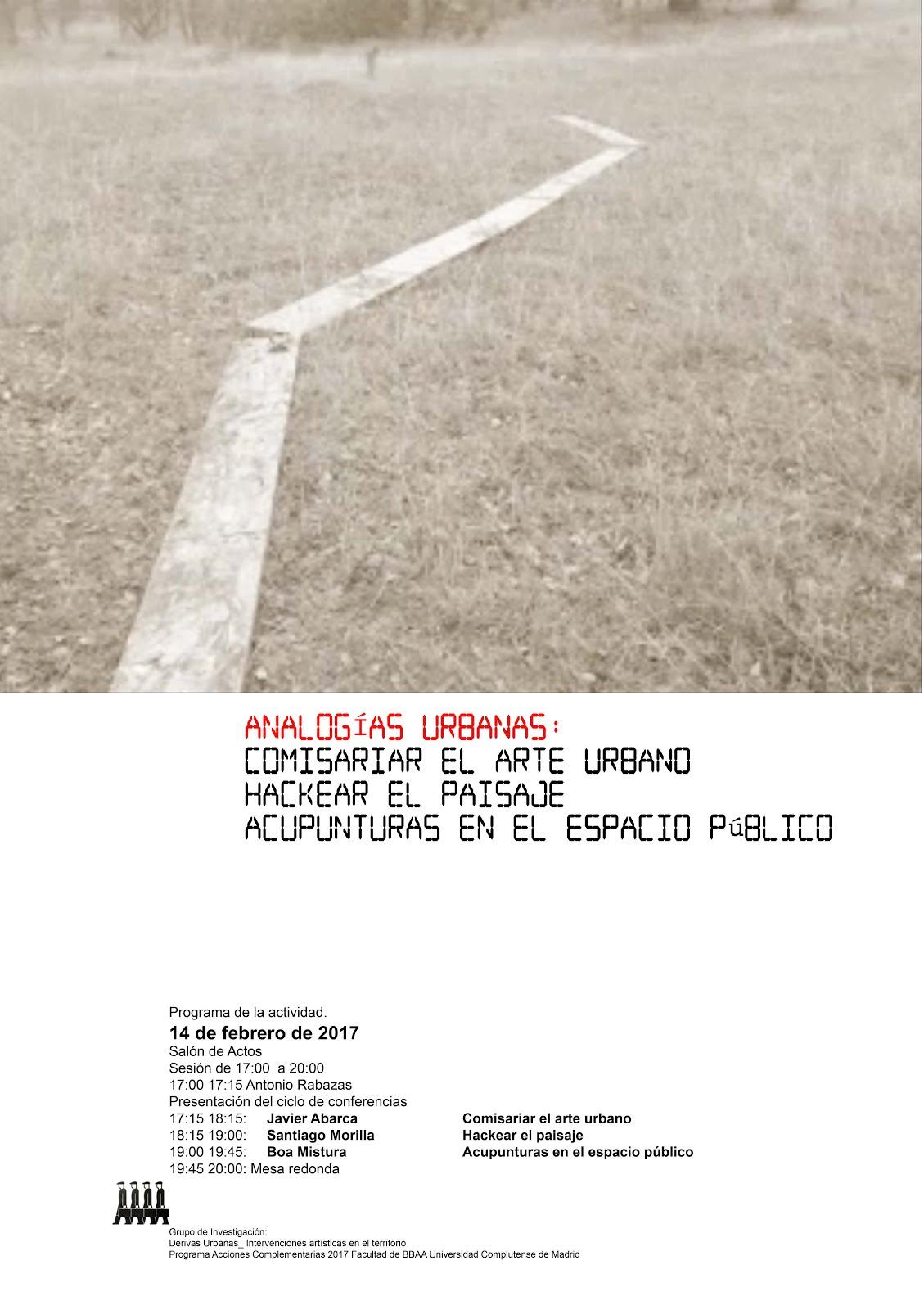 ANALOGÍAS URBANAS:  Comisariar el arte urbano Hackear el paisaje Acupuntura en el espacio público