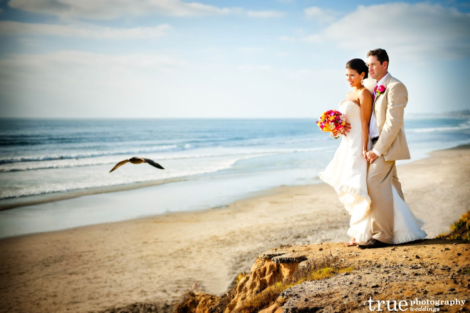 San Diego Beach Wedding Photo