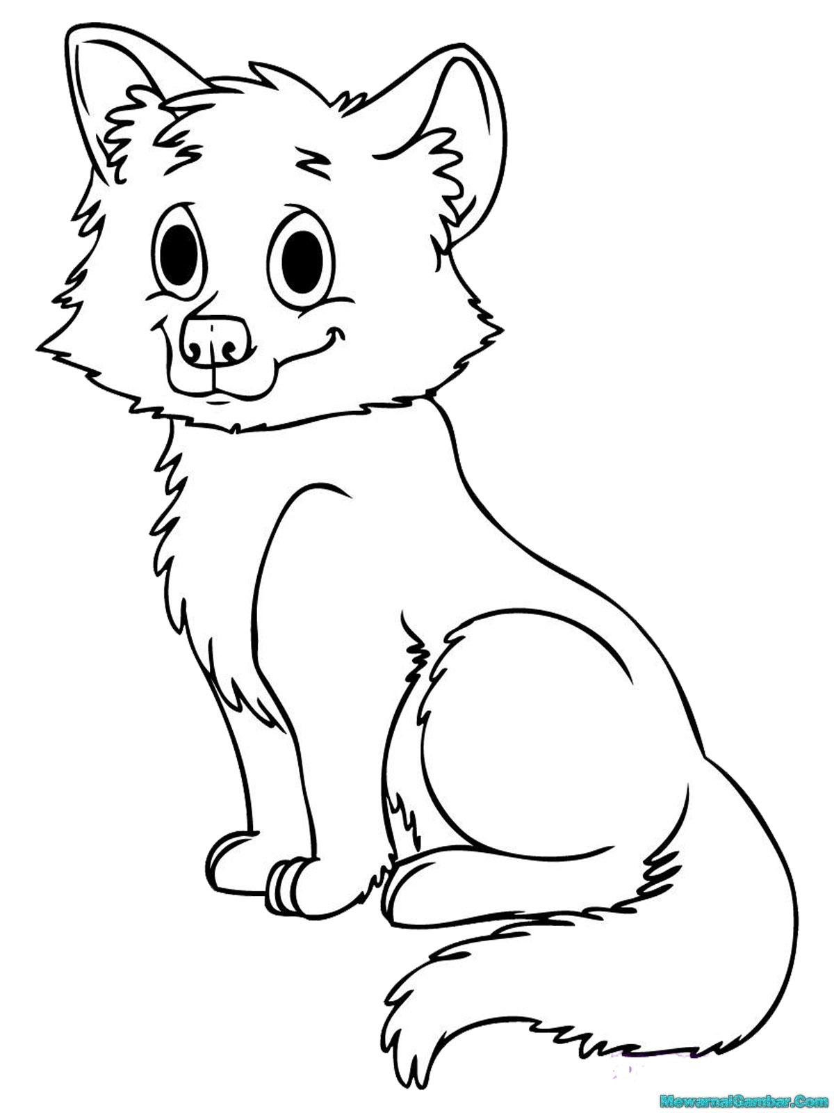 Mewarnai gambar 10 anak binatang mewarnai gambar for Printable baby animal coloring pages
