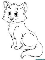 mewarnai gambar anak serigala