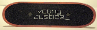 Top view of McDonald's Young Justice Superboy mini skateboard