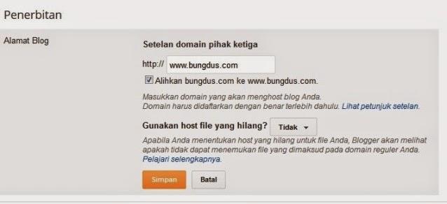 mengarahkan domain godaddy untuk blogspot