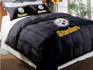 Pittsburgh Steelers Comforter Set: Twin Comforter With Shams
