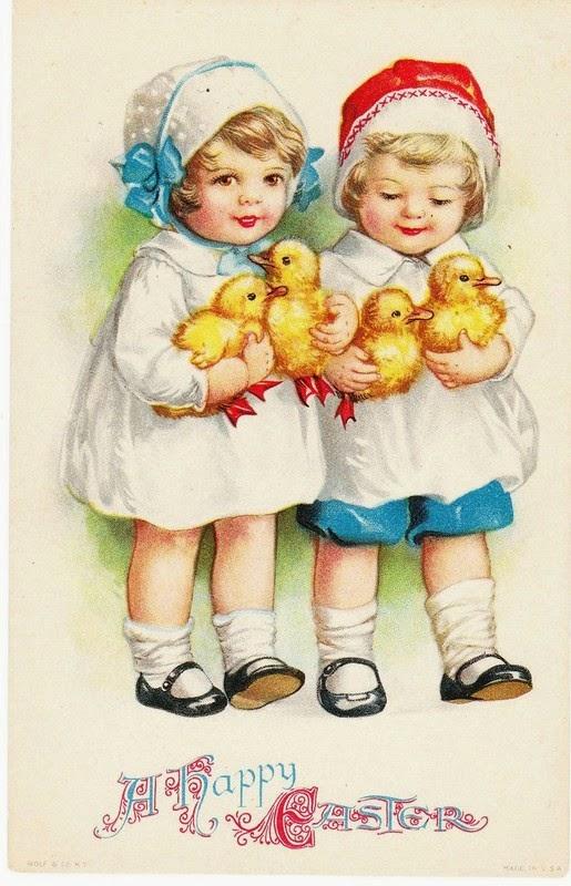 Image ancienne Joyeuses Pâques