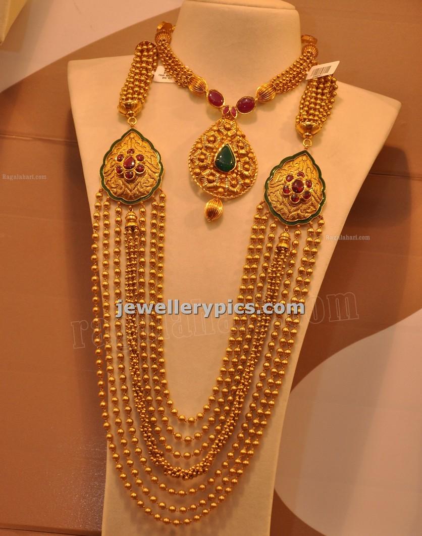 malabar gold gundla mala with 7 steps designs latest