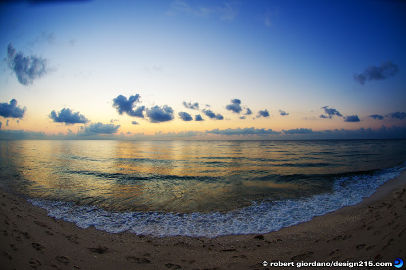Fort Lauderdale Beach Fisheye, Copyright 2012 Robert Giordano