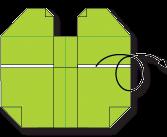 Cara Membuat Origami Wajah Katak