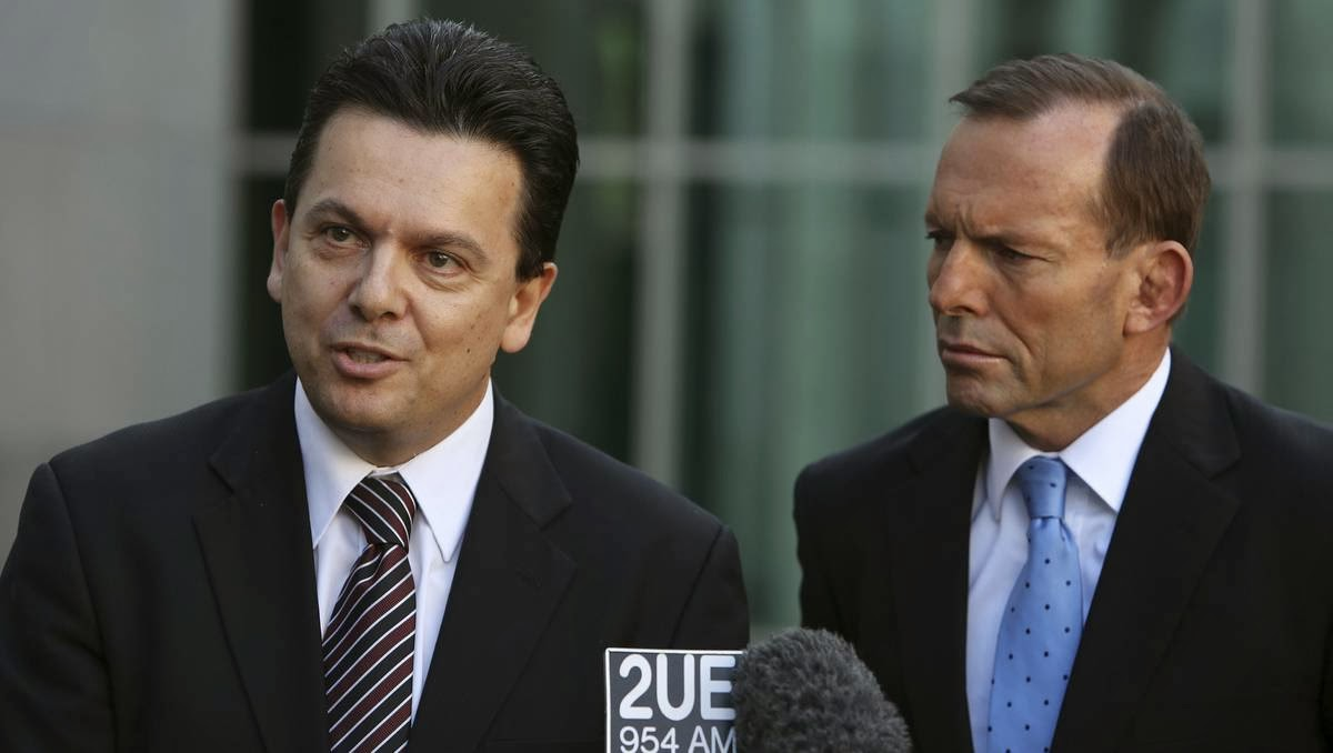 Nick Xenophon & Tony Abbott.