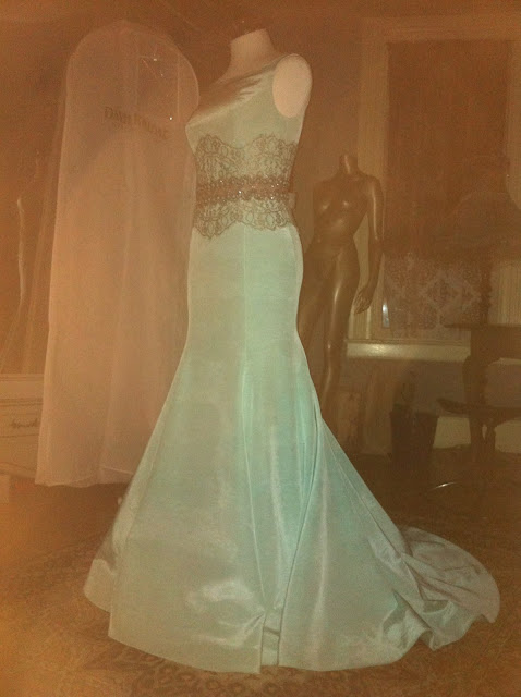 vintage faille evening gown