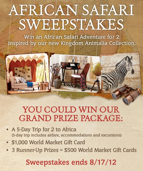 African Safari Sweepstakes