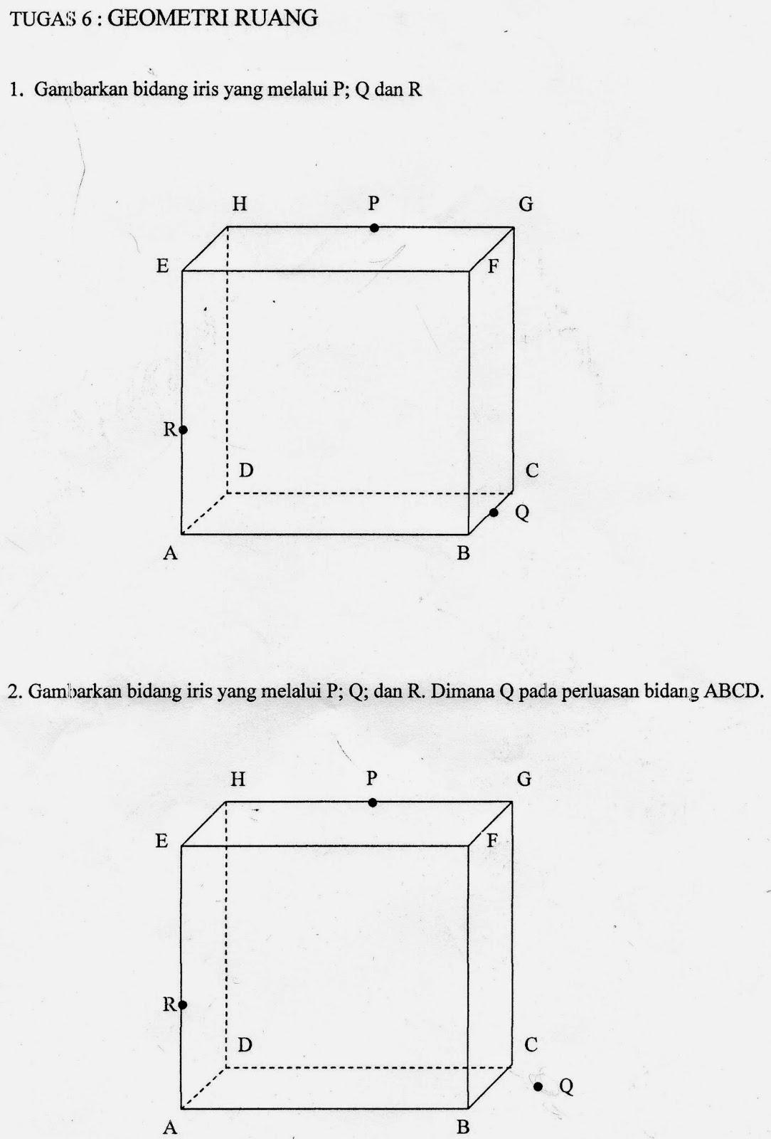 4 Soal Matematika Latihan Soal Bidang Iris