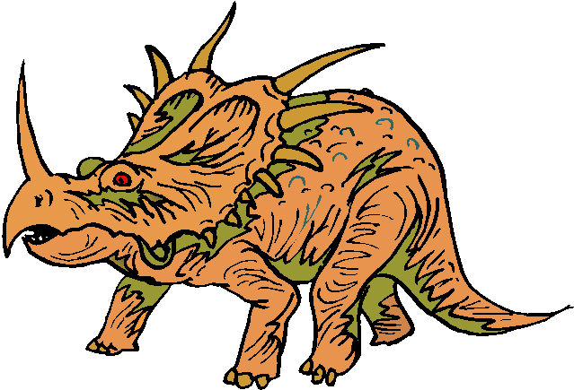 Angry Triceratops Free Dinosaurs Clipart