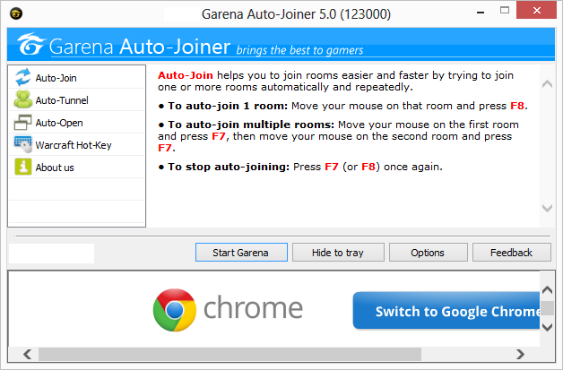 Garena auto joiner| Download garena auto joiner Screen shot