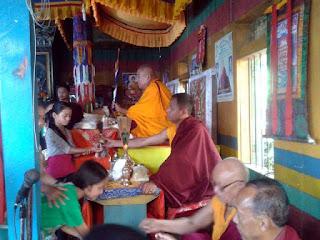 Khyen rimpoche at labdah gumpa