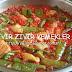 domates soslu patlıcan biber kızartması