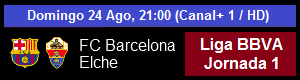 FC Barcelona vs Elche CF - Liga BBVA Jornada 1