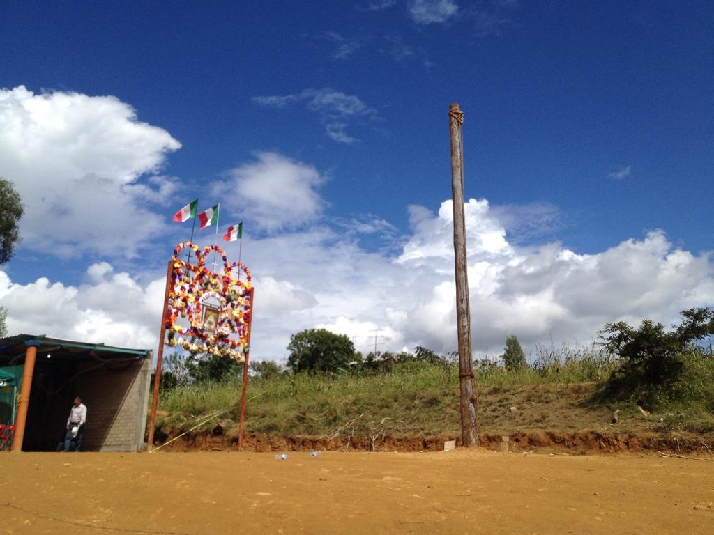 Palo de castigo en fiesta tradicional de Oaxaca