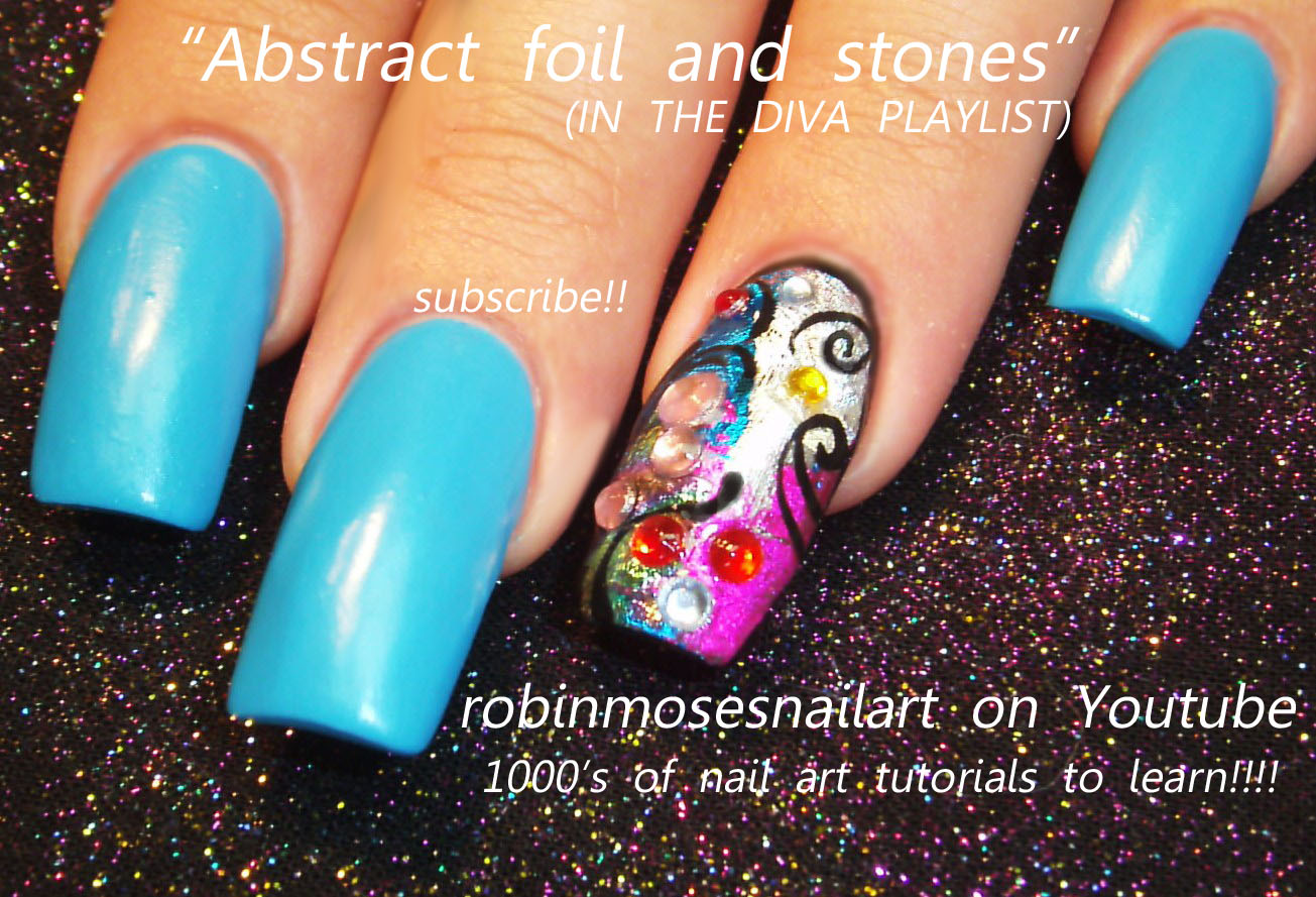 nail art tutorial how to foil nails with rhines rainbow dragonfly ...