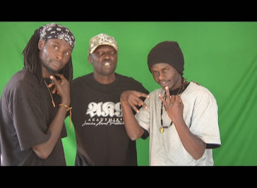 Green Screen shots of Kenyan Science  with some of his boys...