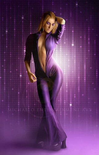 Sensual Woman in Purple