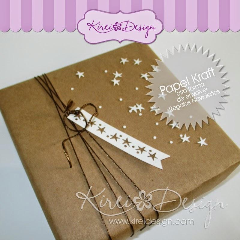 Papel kraft otra forma de envolver regalos navide os - Ideas para envolver regalos navidenos ...