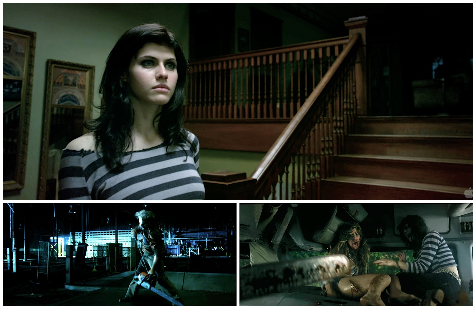 alexandra daddario texas chainsaw shirt open