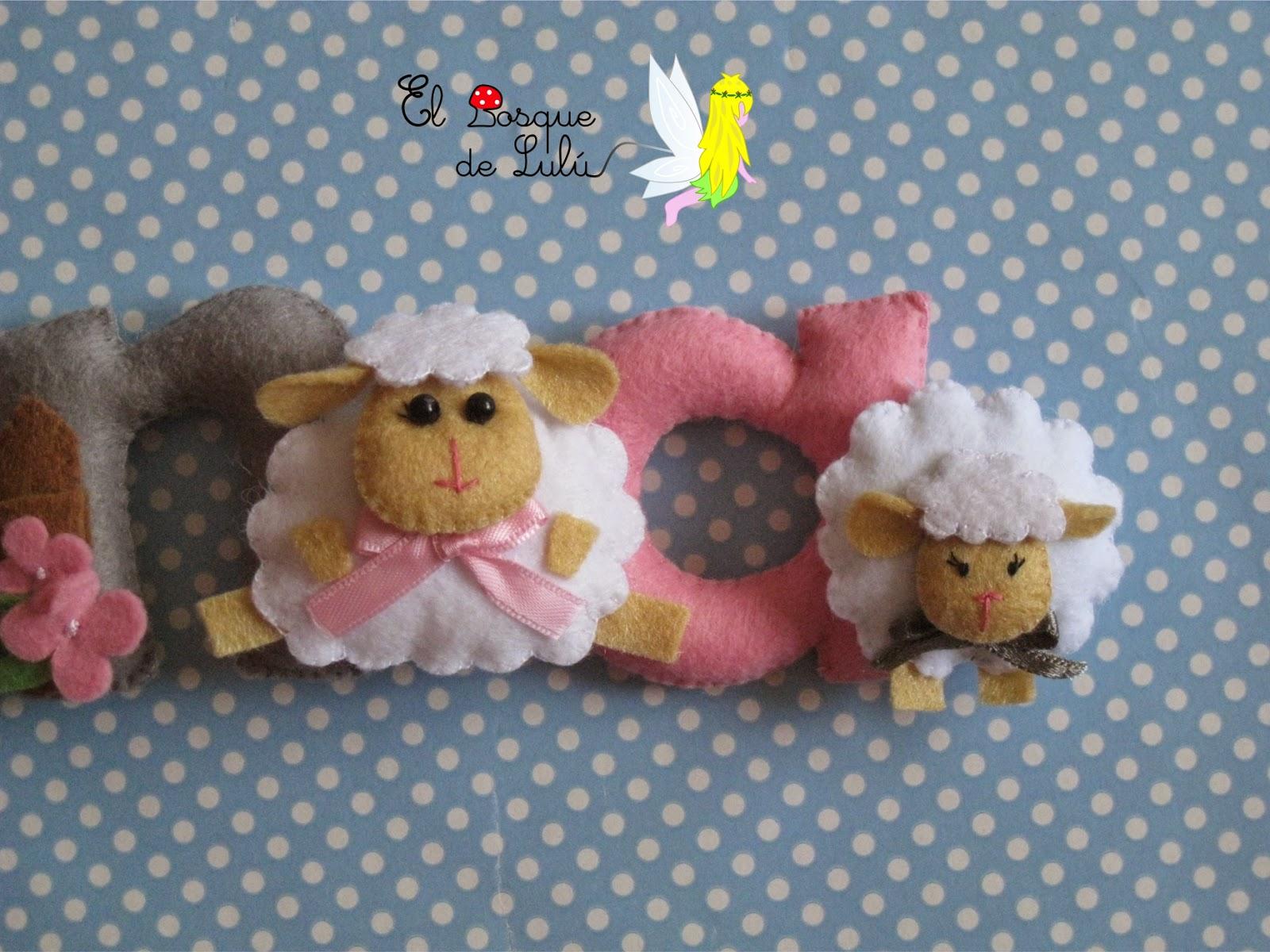 nombre-fieltro-ovejas-ovejitas-decoración-nacimiento-personalizado