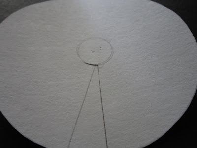 Cut Out A Circle And Locate The Center Draw Another Small On It