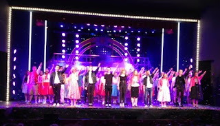 Dundee Schools' Music Theatre perform the finale of Grease: The musical