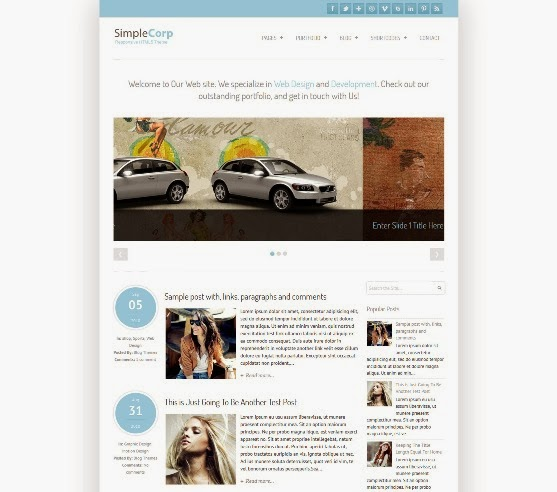 SimpleCorp Blogger Template