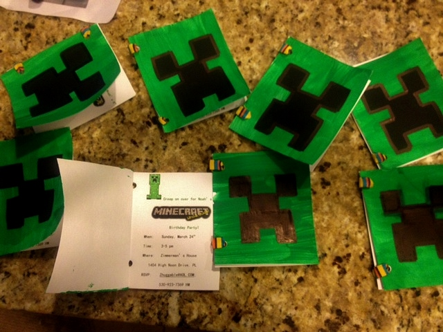 Just the 6 of Us Minecraft Birthday Party for the 8 year old boy