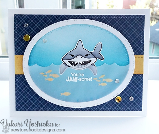 Snappy Birthday Card by Yukari Yoshioka | Shark Bites stamp set by Newton's Nook Designs