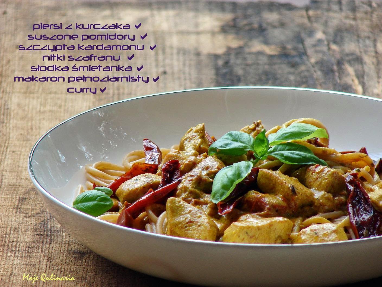 Kurczak W Sosie Curry Z Makaronem Pelnoziarnistym Moje Qulinaria