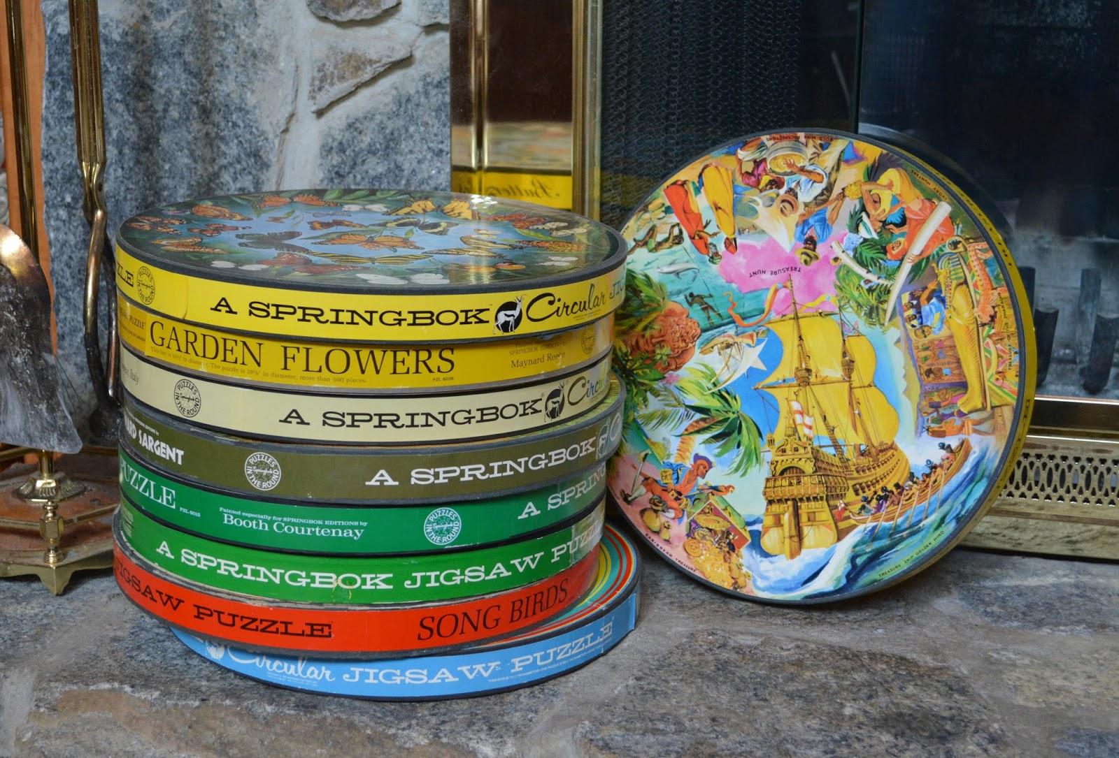 cozy birdhouse | vintage springbok round puzzles