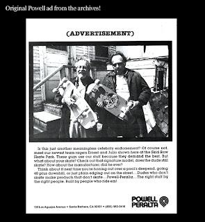 Retro Powell skate advert