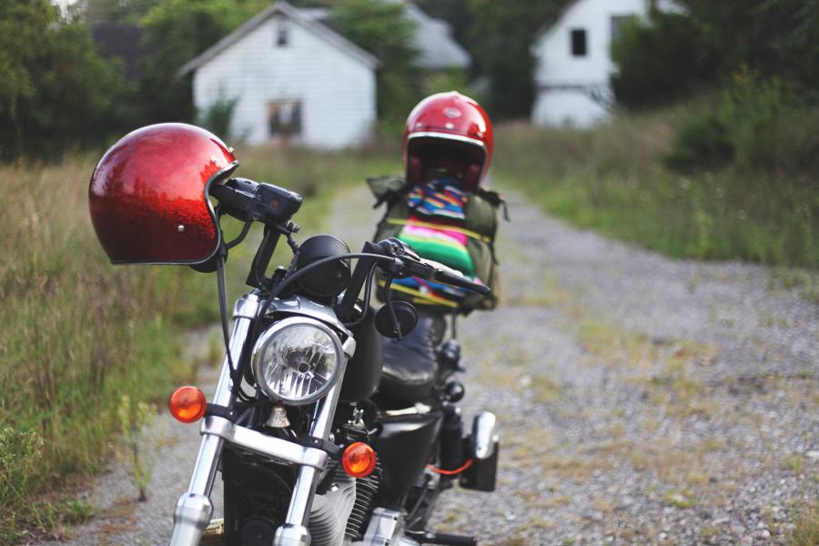 Harley Davidson motorcycle road trip