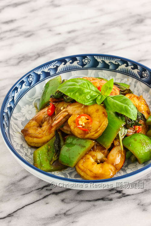 羅勒豉油皇炒蝦球 Stir-Fried Prawns with Sweet Soy Saunce and Basil01