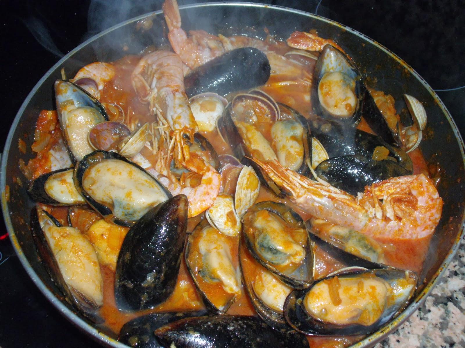 Hombresycocina zarzuela de marisco for Cocinar zarzuela