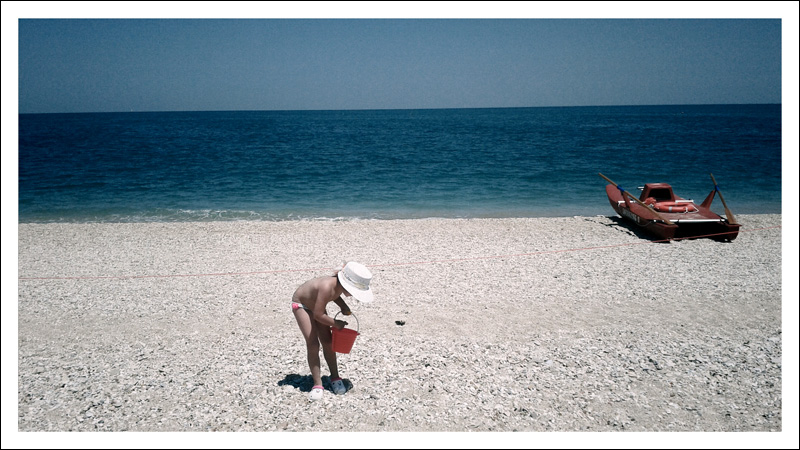 Giochi in spiaggia a Numana