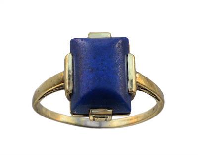1920s art deco lapis lazuli