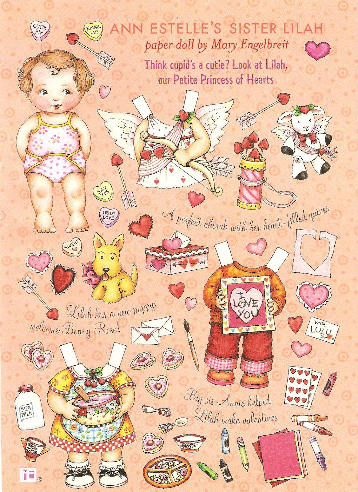 valentine art for babies