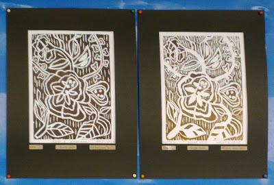 Cetakan Blok Kayu Pelajar Seni Visual Tingkatan 4 SMK Bukit Naning