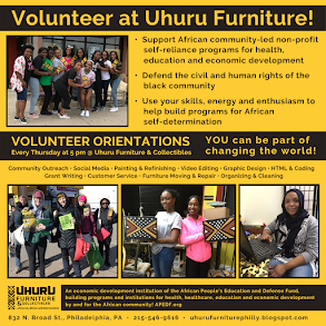 Volunteers Wanted at Uhuru Furniture! Orientations Every Thursday at 5pm