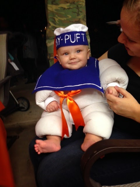 Some of you already saw the pictures of Elliott from Halloween where I made him a Stay-Puft Marshmallow Man costume. I knew months ago that I wanted to ...  sc 1 th 259 & you and me and baby makes three!