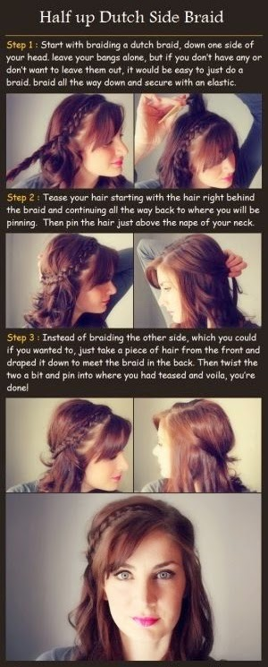 Half up Dutch Side Braid