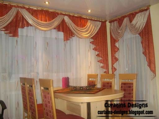 10 top luxury drapes curtain designs unique drapery styles for Dining room curtain ideas