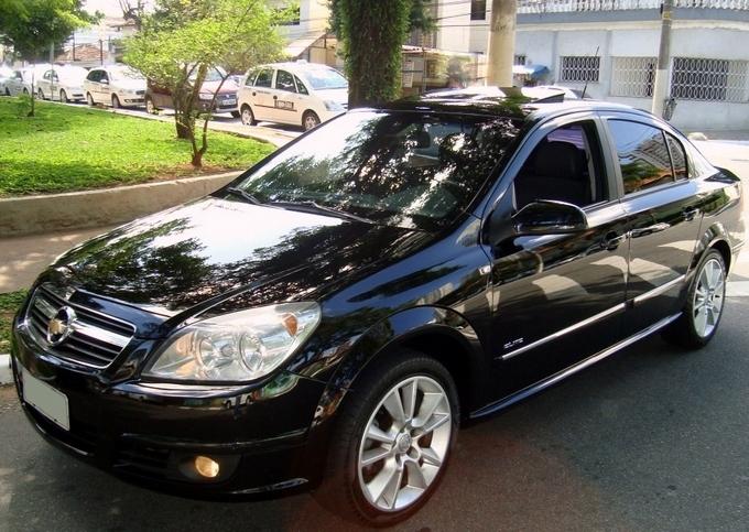 Chevrolet Vectra Elite 2.4 flex preto - perfil