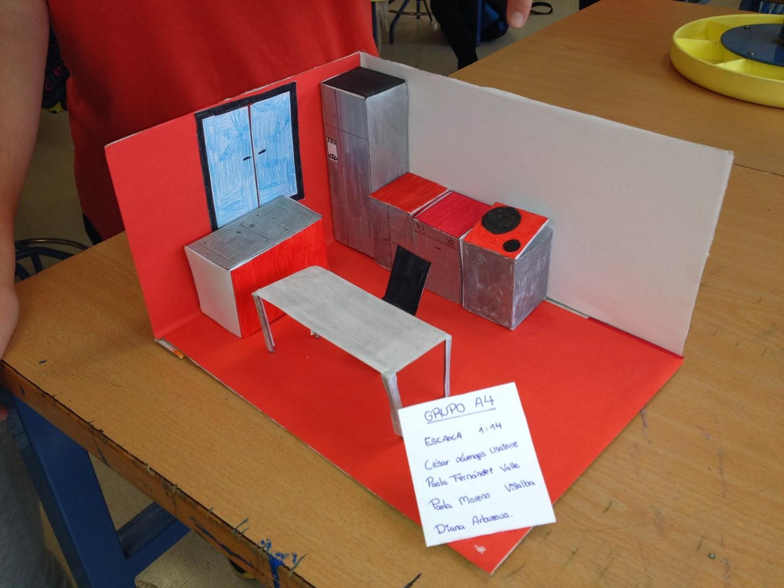 Proyectos de maquetas de cocina tecnolog 205 a en el aula for Proyecto cocina restaurante