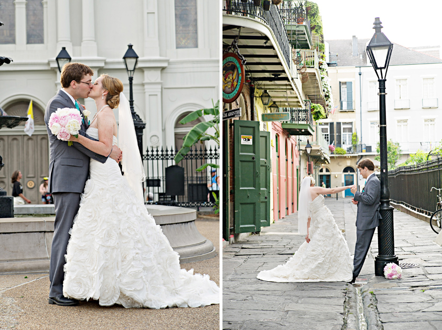 jackson square new orleans wedding, pirate's alley